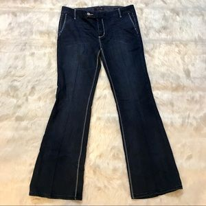 Seven7 dark wash trouser denim jeans Sz 14